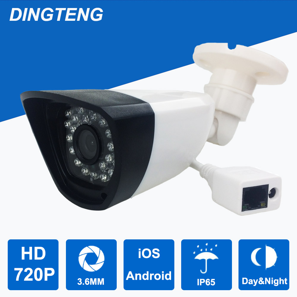 720P IP Camera Outdoor waterproof security camera network surveillance CCTV 1.0MP 1280x720 IR Cut IR LED Day and Night vision 02 4mm 6mm 8mm 12mm 16mm lens hd ip camera 720p network ir night vision waterproof outdoor security surveillance camera j424b