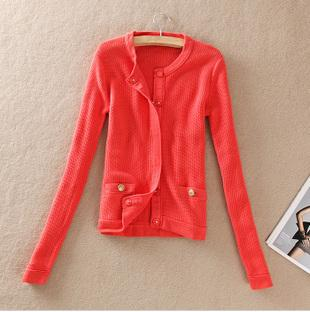 High Quality Orange Red Coral Women's Cardigan Only 1 left-in ...