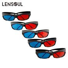 lensoul  5PCS 2017 NEW Fashion Universal 3D glasses Red/Blue 3D glasses Anaglyph  Plastic glasses