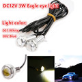 2pcs Eagle Eye Light 18mm 3W White LED DRL Eagle Eye Car Motorcycle Daytime Running Fog Tail Backup Light 12V