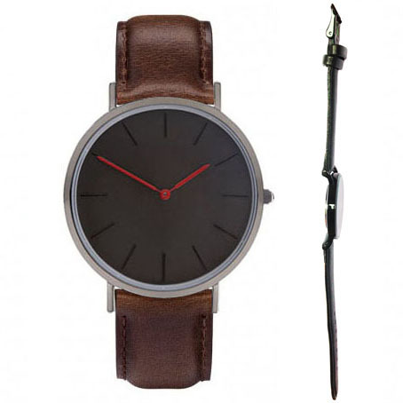 relojes classic hours two hands black dial face black color case watch man England Design reloj
