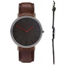Relojes classic horas dos manos negro dial caso reloj de cara de color negro hombre Inglaterra Diseño reloj negro