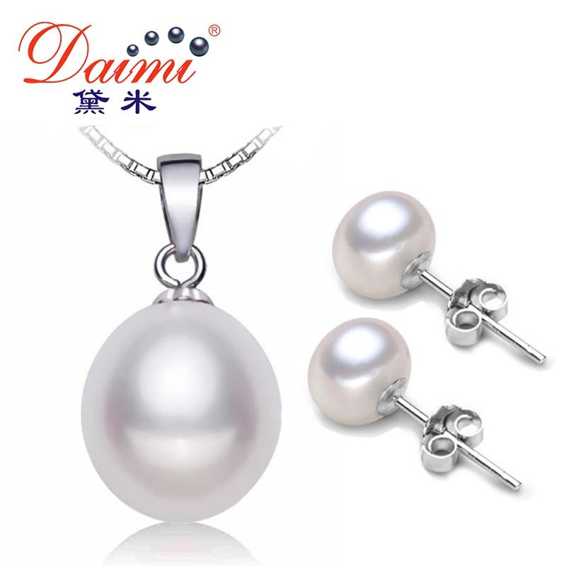 Aliexpress.com : Buy DAIMI Pearl Jewelry Sets 925 Silver ...