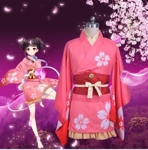 Anime Kabaneri of the Iron Fortress cosplay Mumei Kimono Costumes Koutetsujou no Kabaneri Uniforms bathrobe Kimono Outifit
