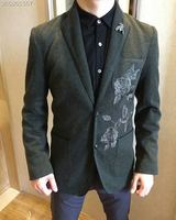 WE09410BH модные Для Мужчин's Пальто и куртки 2018 взлетно посадочной полосы Элитный бренд Европейский Дизайн вечерние стиль Мужская одежда