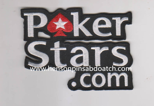 Retail Poker stars embroidery patches, letters embroidery design ...