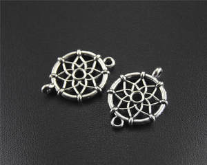 NXQXN 10pcs Round Charm Connector Pendants Craft