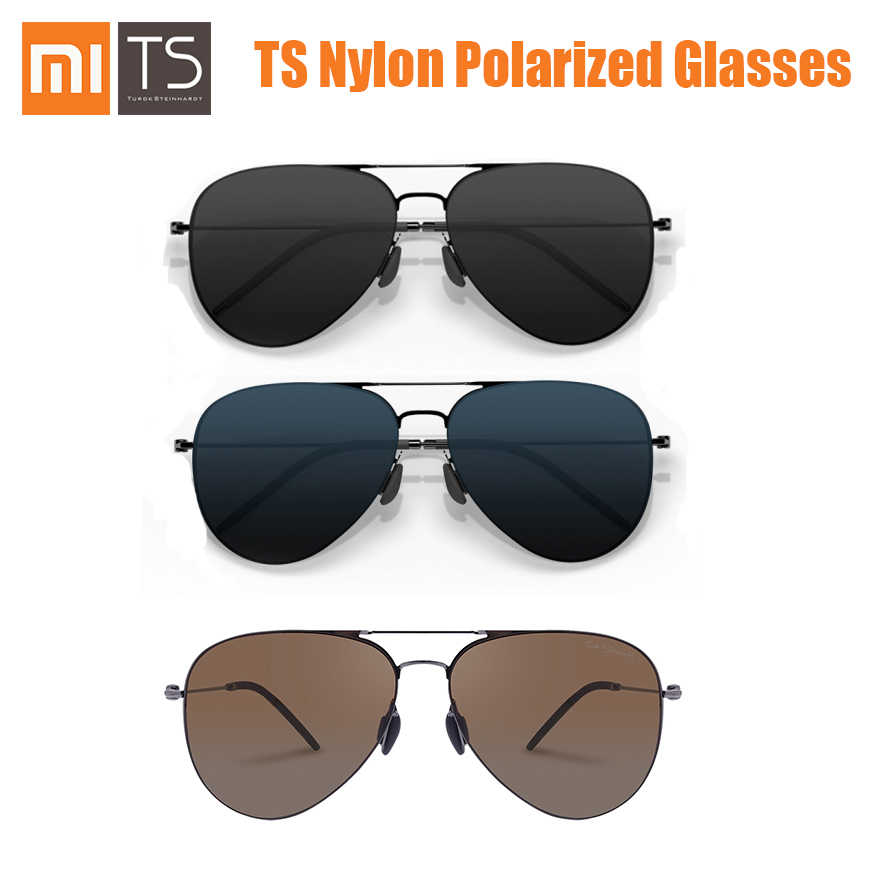 Xiaomi Turok Steinhardt TS Brand Nylon Polarized Stainless Sun Mirror Lenses Glasses UV-Proof for Outdoor Travel Man Woman