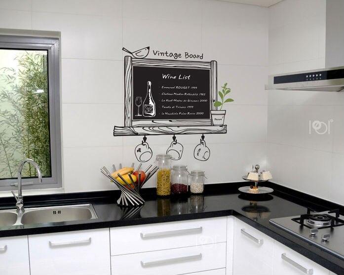Vinyl Voor Keuken : 2013 nieuwe komen krijtbord decal schoolbord verwijderbare