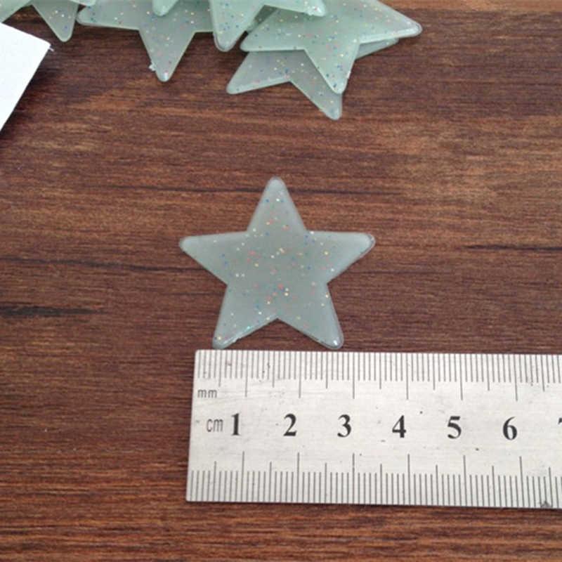 100 шт./упак. 3D звезды светится в темноте наклейки на стену 3,8 см; блестящие светящиеся звезды спальня украшения DIY моды подарок