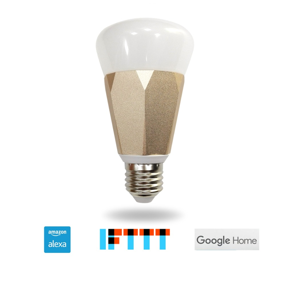 Zmismart Led Bulb Dimmer 7W Wifi Smart Light Bulbs Remote Control Color Changing Works With Alexa Echo IFTTT E26 E27 RGB White