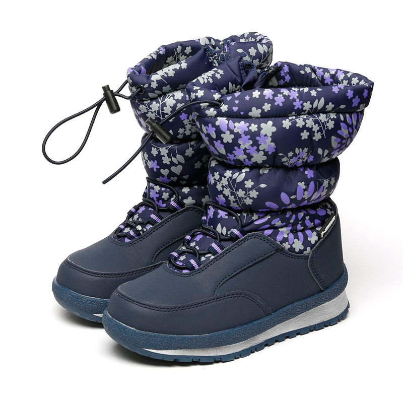 FLAMINGO Waterproof Wool Keep Warm Winter High Quality Shoes Anti-slip Size 29-34 Children Snow Boots for Girl 72M-YC-0432