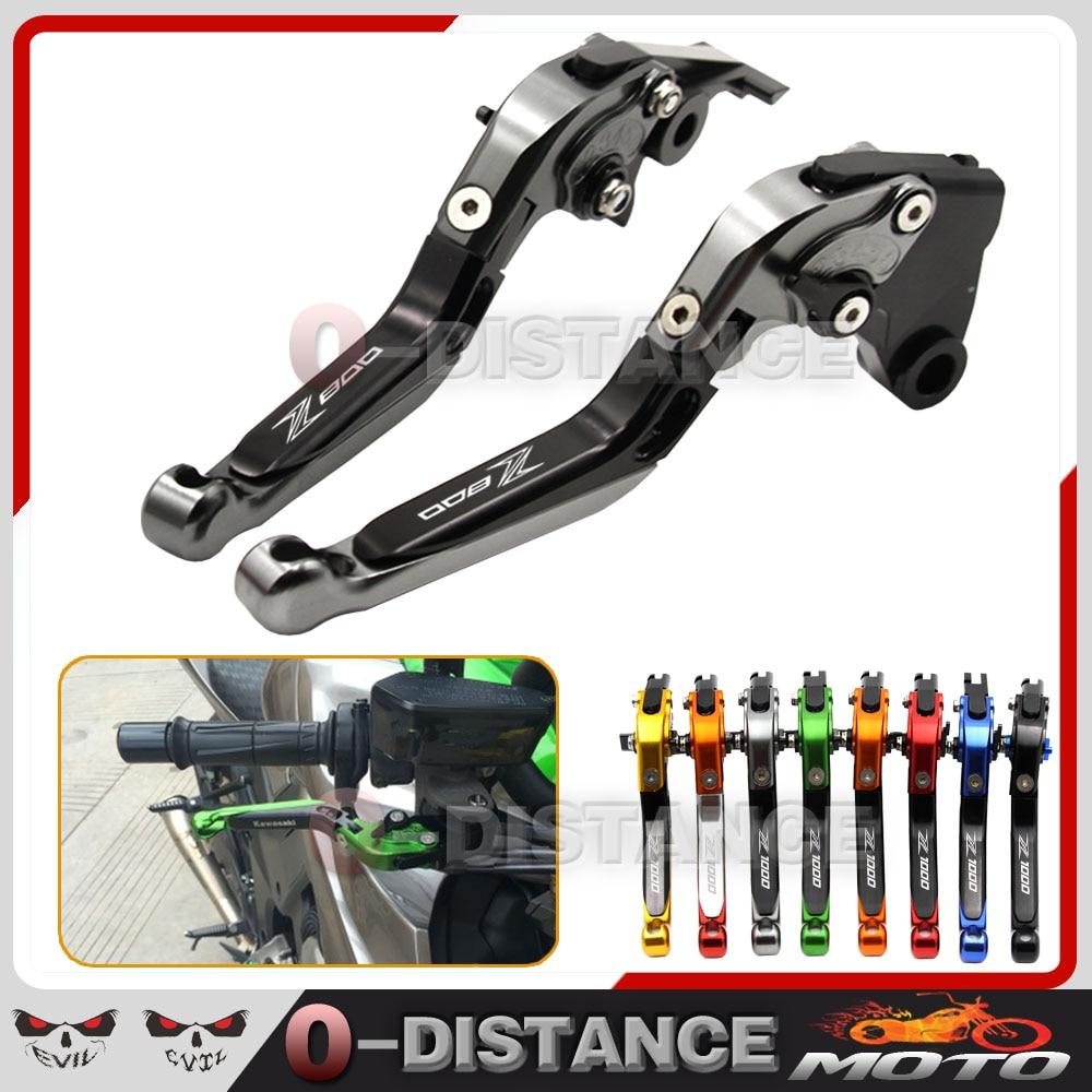 ФОТО Hot sales Motorcycle Adjustable CNC Brakes Clutch Levers Set Motorbike brake For Kawasaki Z800/E version 2013-2016 5 Colors