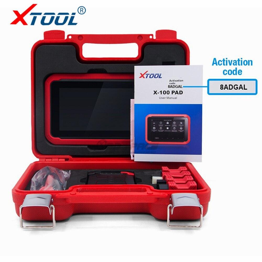 Date XTOOL X100 PAD X 100 Auto programmeur de clé de voiture Avec Reste D'huile Outil Et Ajustement D'odomètre X-100 PAD 100% D'origine