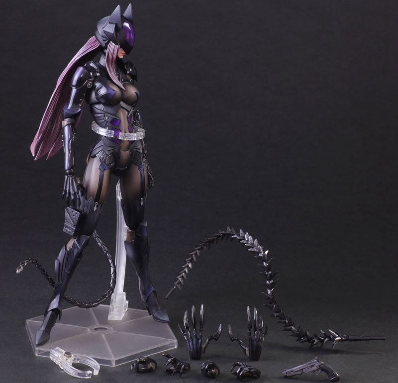 Play Arts Kai PA Bat Man Catwoman Figure Selina Kyle PA 27cm PVC Action Figure Doll Toys Kids Gift Brinquedos play arts marcus fenix game gears of war 3 war machine pa play arts kai 27cm pvc action figure doll toys
