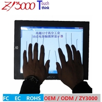 new stock 17 4:3 open frame metal casing multi capacitive touch screen industrial monitor wall mount monitor