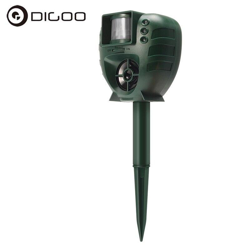 Animal Repeller Digoo DG-AR01 Smart Home PIR Ultrasonic Animal Repeller Dog Cat Insect Flash Light Repellent Garden Expeller dg home диван box light
