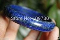 001497 Natural Bright Blue Lapis Lazuli Bangle/Bracelet 53 55mm (Inside Diameter) (A0502)