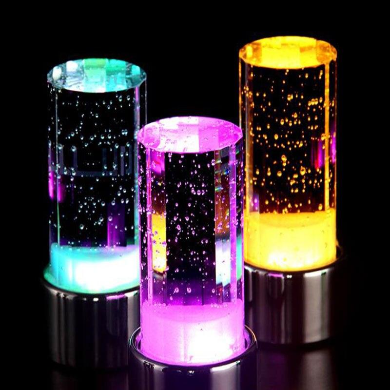 New exotic LED night light charging LED bar bar table lamp colorful crystal lamp.