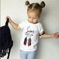 2017 baby girl verão tops 100% algodão camiseta impressão infantil syhb172153 clothing manga curta t-shirt camiseta infantil de menina