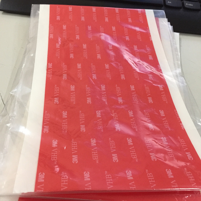 Free Shipping 10pcs/lot 105mmx200mm 3M VHB 4905 Double-sided Clear Transparent Acrylic Foam Adhesive Tape Long vhb double sided adhesive acrylic foam tape 4229p special for automobile card body side moldings abs and pvc etc 3meters long