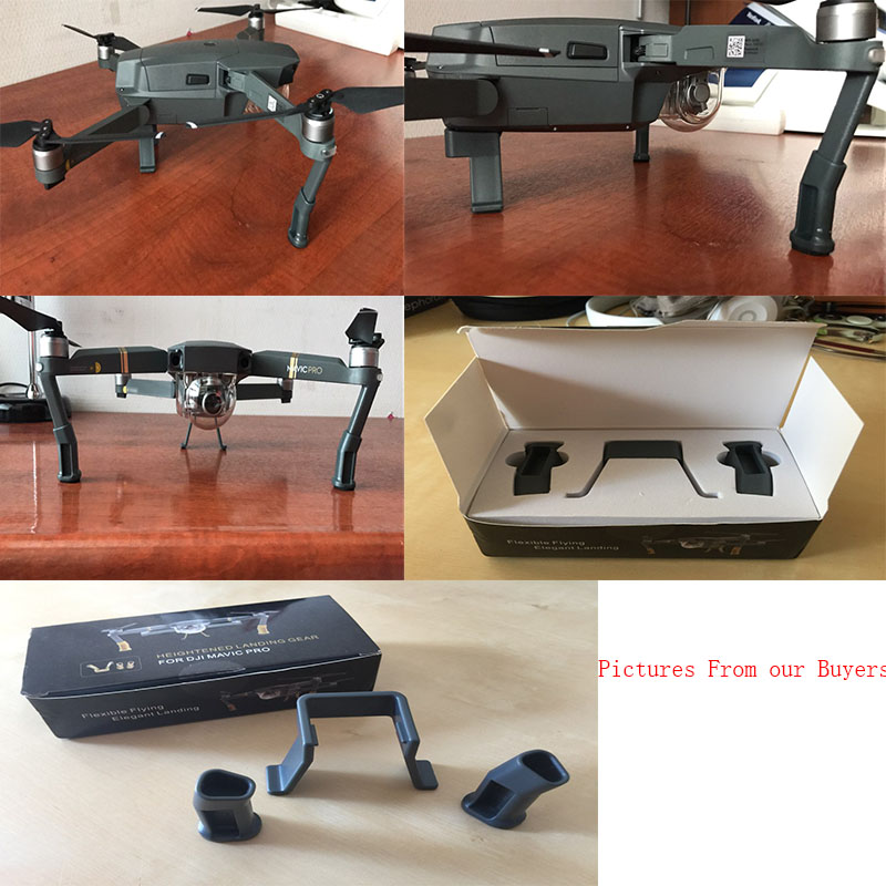 DJI Mavic Pro Extended Landing Gear Skid Heightened Safe Mavic Pro Accessories Chassis Protector Mount Kit drone chassis landing gear including antenna