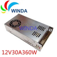 Linear power supply input AC 110V 220V output DC 12V 30A built in cooling DC fan for security video camera power supply SMPS