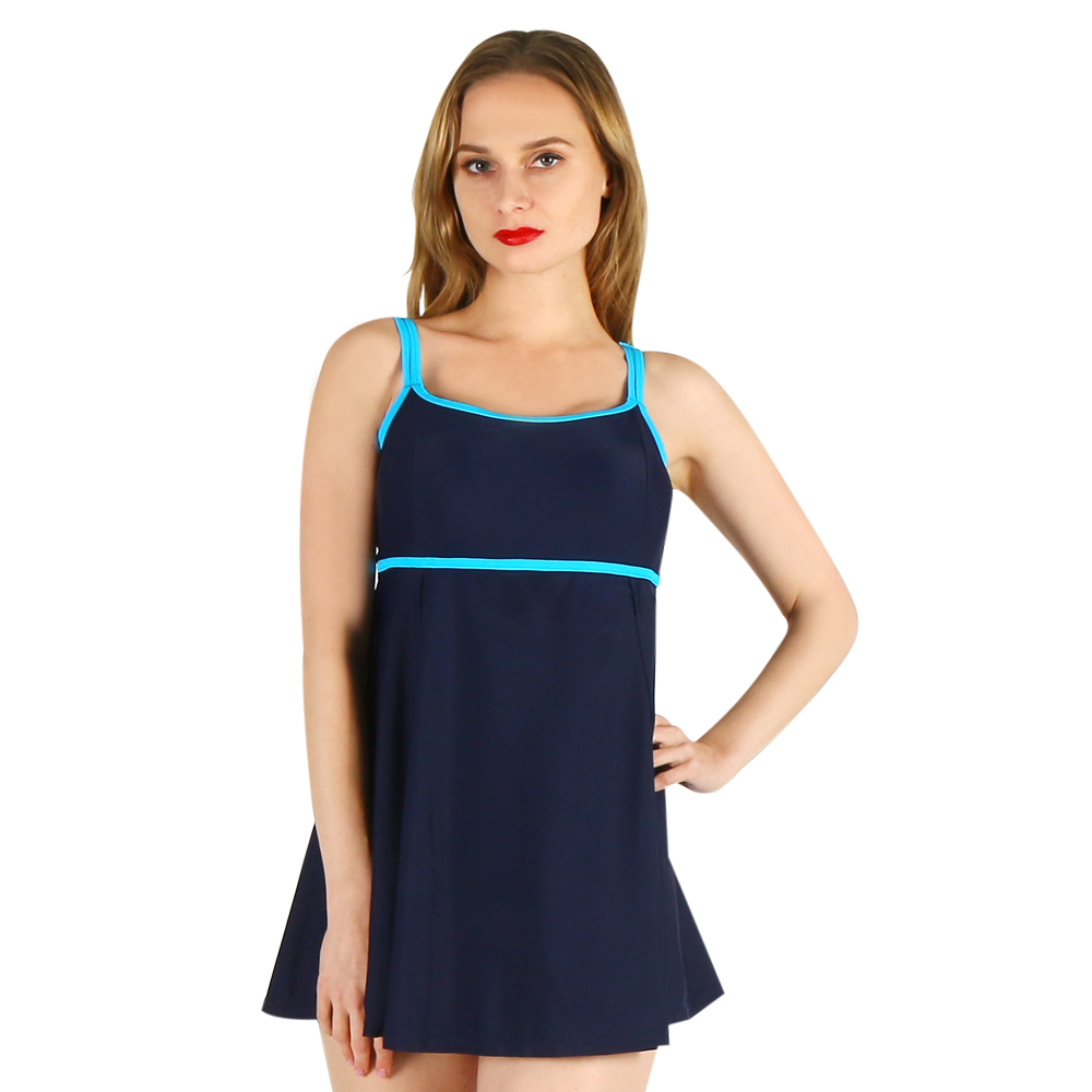 one-piece women swimwear sexy sling solid color halter striped large size big bust bathing swimsuit push up swimdress female sexy halter push up solid color three piece swimwear for women