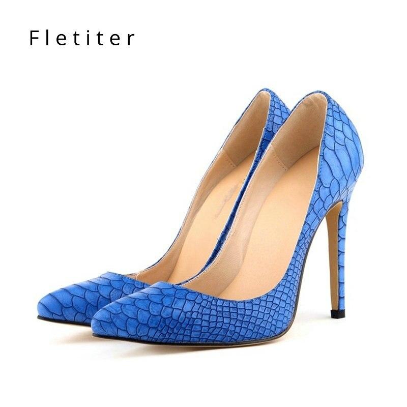 Brand Shoes Woman High Heels Ladies Shoes 12CM Heels Pumps Women Shoes Sexy Black Blue Party Wedding Shoes Stiletto Fletiter цены онлайн