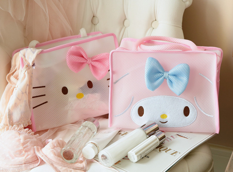 New Cartoon Japan Duffy Bear Stellalou Pink Panther Sailor Moon Luna Mickey Minnie Transparent Cosmetic Bags 28cm*22cm*10cm