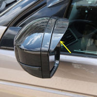2pcs Rearview Mirror Rain Eyebrow For Land Rover Discovery Sport 2015