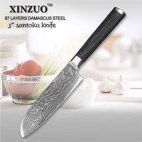 2014 NEW Hot Japanese VG10 Damascus Steel Damascus Knife Kitchen Utility Universal Knife With Forged Black