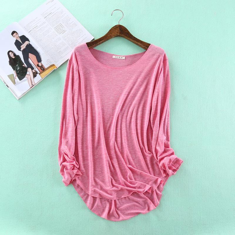 HOT Autumn Fitness New Long Sleeve   T     Shirt   Plus Size Loose Model Women   T  -  shirt   Cotton O-neck Slim Fashion Woman Clothes