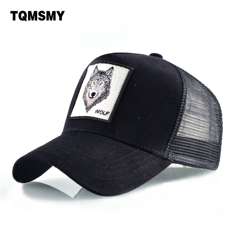 TQMSMY 8 Kinds of embroidery animal Baseball Caps men Breathable Mesh Snapback caps