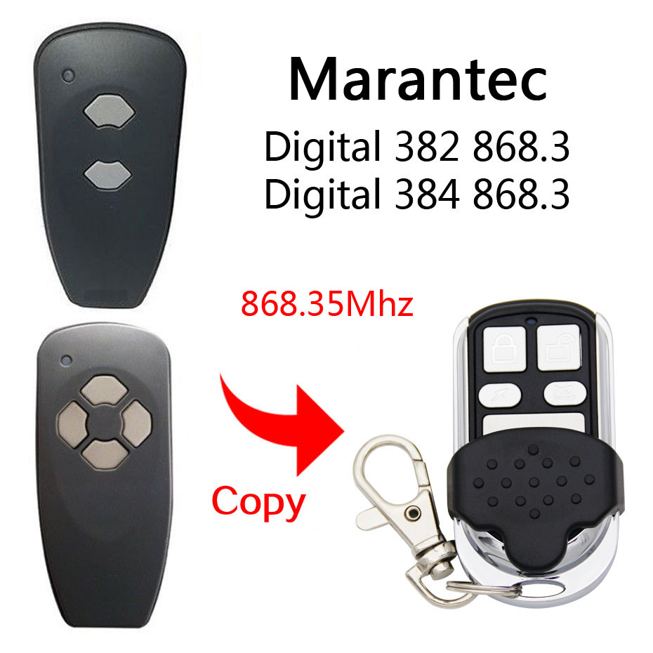 copy Marantec Digital 382 868Mhz remote control Garage Door/Gate Marantec 382 Remote Control Replacement/Duplicator