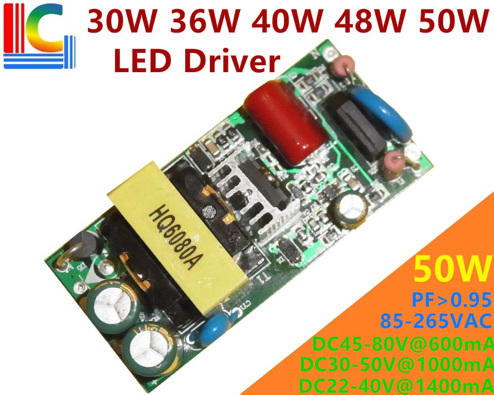 30W 36W 40W 48W 50W Lighting Transformer AC To DC Power Supply 500mA 600mA 700mA 750mA 900mA 1050mA 1200mA LED Driver Adapter