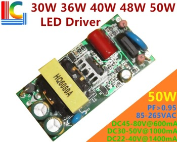 30W 36W 40W 48W 50W Lighting Transformer AC to DC Power Supply 500mA 600mA 700mA 750mA 900mA 1050mA 1200mA LED Driver adapter image