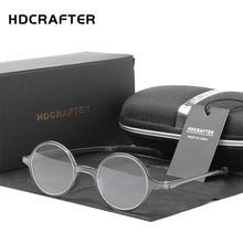 HDCRAFTER +1.00 to +4.00 Round Retro Men Women Reading Glasses Unisex Presbyopia Eyewear for Readers diopters Glasses for man