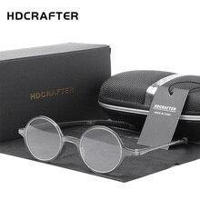 HDCRAFTER lunettes de lecture rondes rétro pour hommes et femmes, verres à + 1.00 à + 4.00, pour presbytes unisexes, pour lecteurs de dioptres