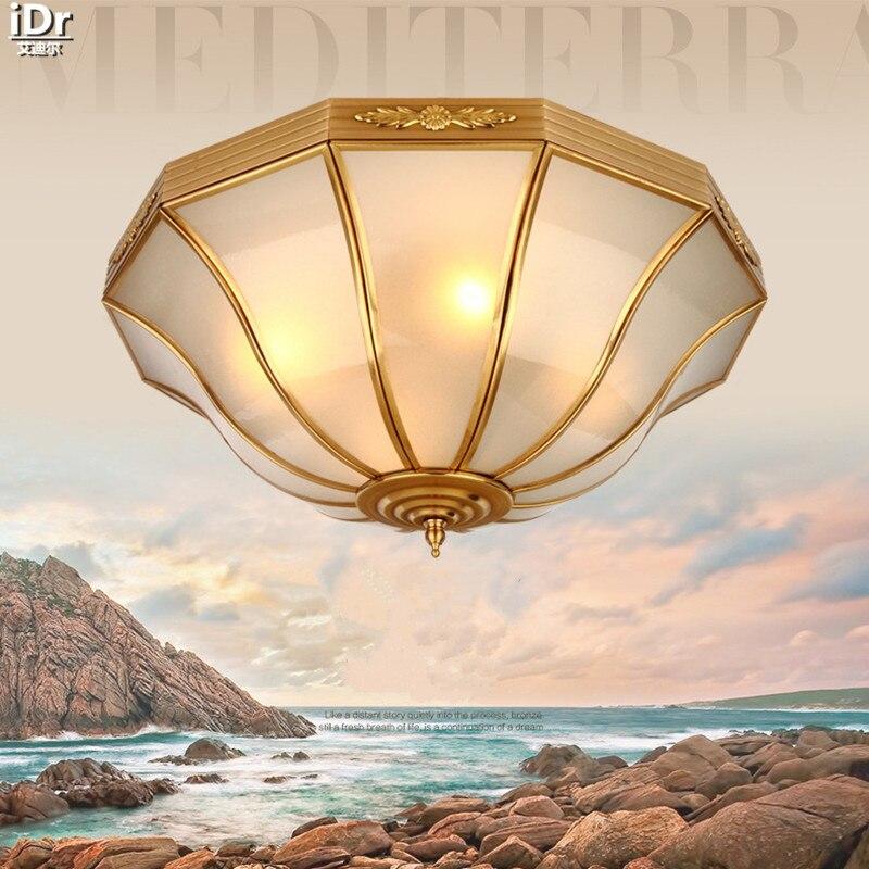 Continental Gold Vollkupferlampen Wohnzimmer Lampe Schlafzimmer Minimalistische Restaurant Leuchten Deckenleuchten OLU 0100China