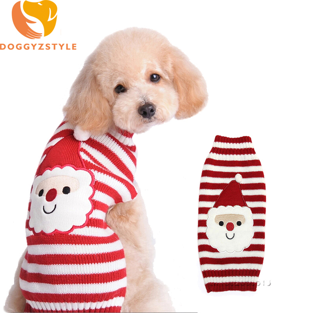 Aliexpress Buy Christmas Dog Sweater Clothes Warm Puppy Coat