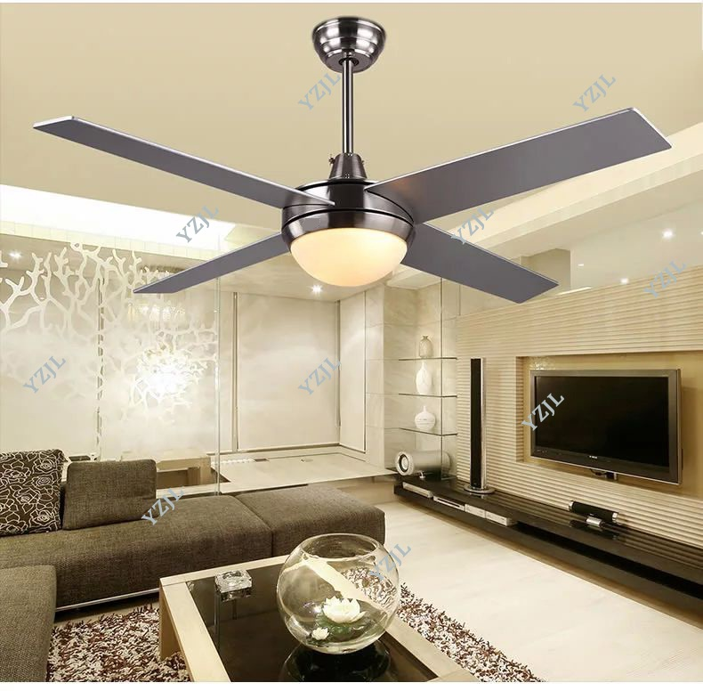 48inch 52inch chandelier fan lights simple led modern minimalist living room bedroom fan. Black Bedroom Furniture Sets. Home Design Ideas