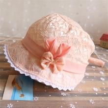 Милая летняя шапочка принцессы с бантом, детская шляпа с бантиком, однотонная кружевная полая шапочка для маленьких девочек, пляжный набор игрушек для детей, шапки