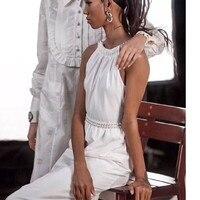 EXCOSMIC женское стильное сексуальное платье Дамское вечернее платье подиумная Вышивка выдалбливают Элегантные вечерние пляжные платья