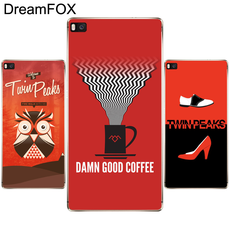 DREAMFOX K250 Twin Peaks Style Soft TPU Silicone Case Cover For Huawei P8 P9 P10 Lite Plus 2017 Honor 8 Lite Pro 9 6X