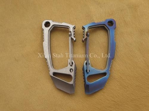 Titanium TC4 mousqueton multifonction 29g avec décapsuleur/tournevis droit/Dulledge/barre de levier/défense personnelle