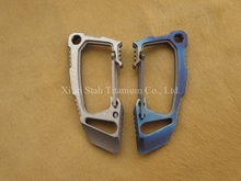 Titanium TC4 Multi-function Carabiner 29g with Bottle opener / Straight Screwdriver / Dulledge / Pry bar / Personal defense