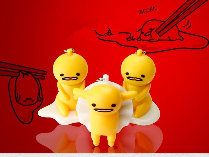 Lovely egg - egg key chain will say I love you LED light emitting sound key chain creative pendant key chain Action toys
