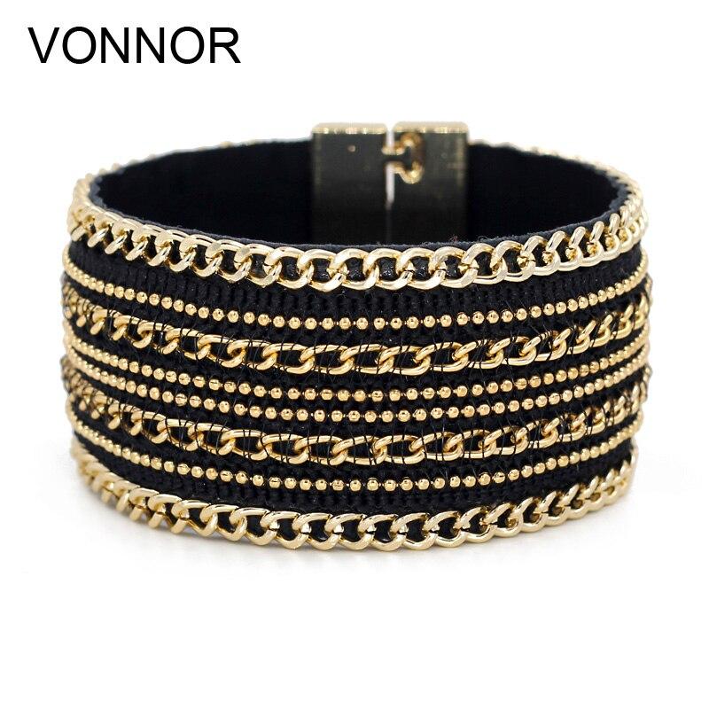 VONNOR Schmuck Armband für Frauen Leder Armreifen Armbänder - Modeschmuck - Foto 2