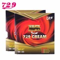2pcs/lot RITC 729 Friendship New CREAM (729 Cream) Pips-In Table Tennis (PingPong) Rubber With Sponge